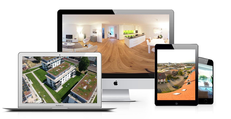 Virtuelle Touren, Luftaufnahmen & Panorama Fotos