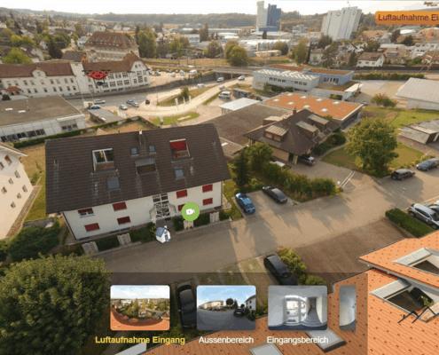 Virtuelle Tour Beispiel mit Luftaufnahme
