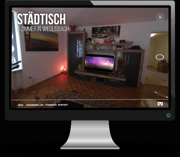 Virtuelle Tour Referenz Städtische Wohnung